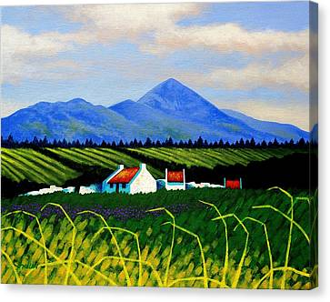 Nature Poster Art Canvas Print - Croagh Patrick County Mayo by John  Nolan