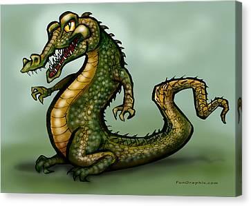 Crocodile Canvas Print by Kevin Middleton