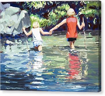 Crossing Canvas Print by Bob Duncan