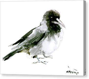 Crow Canvas Print by Suren Nersisyan
