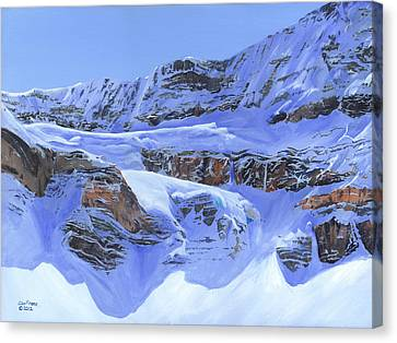 Crowfoot Glacier Canvas Print by Glen Frear
