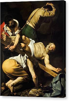 Saint Peter Canvas Print - Crucifixion Of Saint Peter by Caravaggio