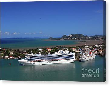 Canvas Print featuring the photograph Cruise Port by Gary Wonning