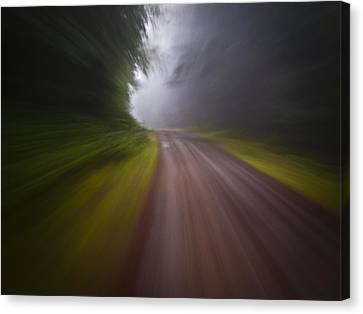 Curve In The Road Blur Canvas Print by Ed Book