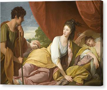 Cymon And Iphigenia Canvas Print by Benjamin West