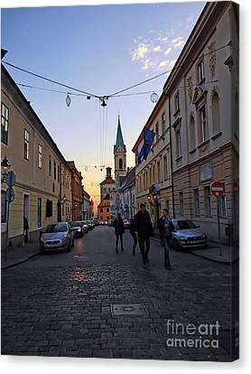 Cyril And Methodius Street Zagreb Canvas Print by Jasna Dragun