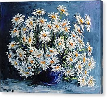 Daisies Canvas Print by Stanislav Zhejbal