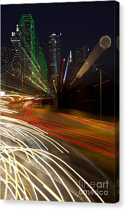 Dallas Commute - Abstract Canvas Print