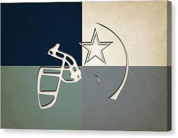 Dallas Cowboys Helmet Canvas Print by Joe Hamilton