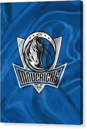 Dallas Mavericks Canvas Print by Afterdarkness