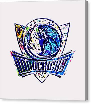 Dallas Mavericks Canvas Print by Brian Reaves