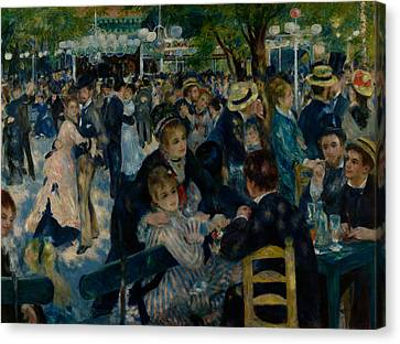 Dance At Le Moulin De La Galette  Canvas Print by Auguste Renoir