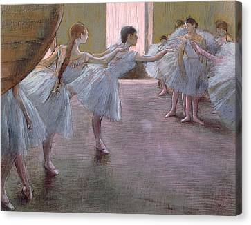 Cardboard Canvas Print - Dancers At Rehearsal by Edgar Degas