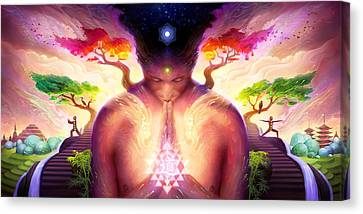 Dao Of Yoga Canvas Print by George Atherton