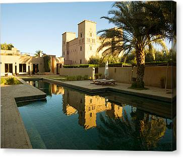 Dar Ahlam Kasbah A Relais And Chateaux Canvas Print by Panoramic Images
