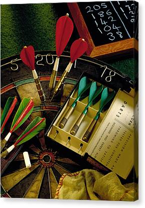 Darts Canvas Print by Simon Kayne