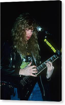 Dave Mustaine Of Megadeth Canvas Print by Rich Fuscia