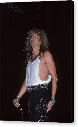 David Coverdale Of Whitesnake Canvas Print by Rich Fuscia