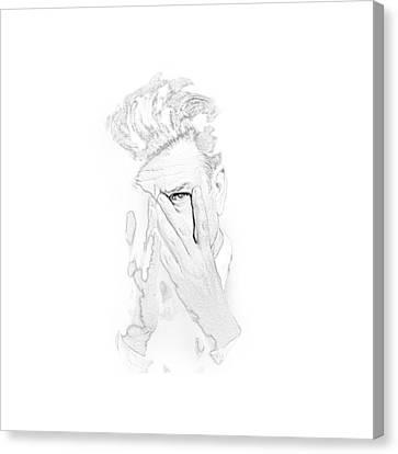 David Lynch Hands Canvas Print by Yo Pedro