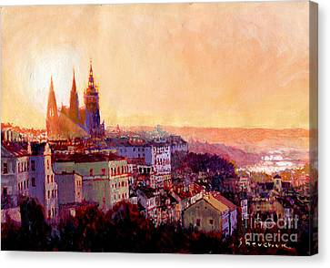 Sundown Over Prague Canvas Print by Yuriy Shevchuk