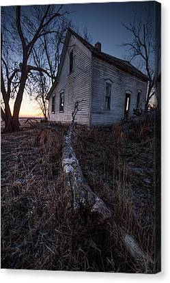 Abandoned Houses Canvas Print - Dawn Of The Dead  by Aaron J Groen