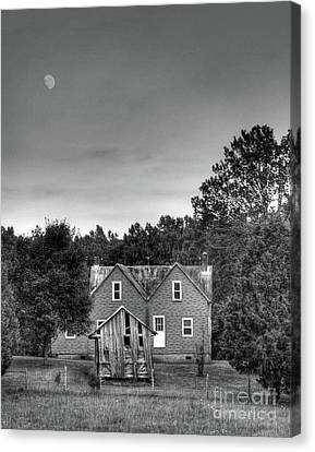 Day Moon Canvas Print by Pete Hellmann