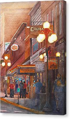 Deadwood Nights Canvas Print by Ally Benbrook