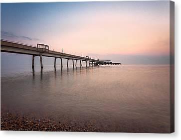 Deal Pier Sunrise Canvas Print by Ian Hufton