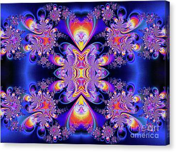 Canvas Print featuring the digital art Deep Heart by Ian Mitchell
