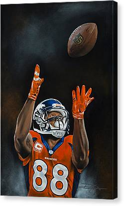 Canvas Print - Demaryius Thomas by Don Medina