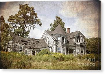 Derelict House Canvas Print by Jane Rix