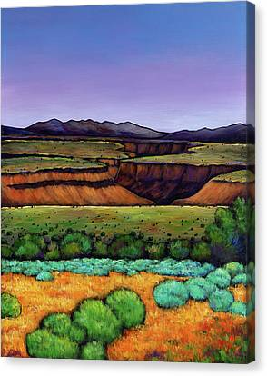 Taos Canvas Print - Desert Gorge by Johnathan Harris