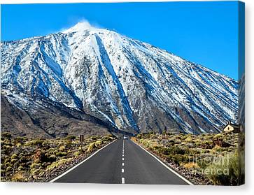 Desert Landscape In Volcan Teide National Park Canvas Print