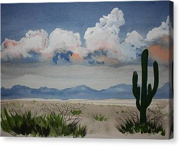 Desert Thunderheads Canvas Print