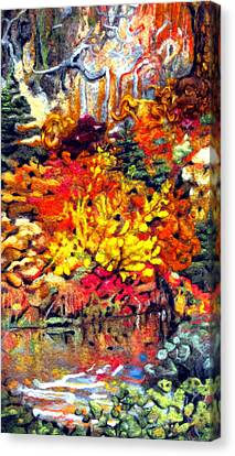 Detail Of Fall Canvas Print by Kimberly Simon
