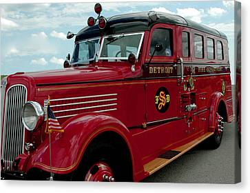 Detroit Fire Truck Canvas Print