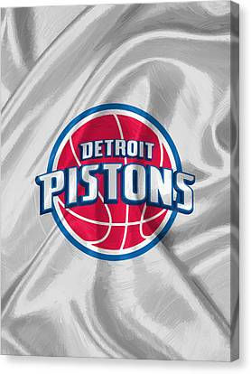 Dunk Canvas Print - Detroit Pistons by Afterdarkness