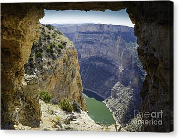 Bighorn Canyon National Recreation Area Canvas Print - Devils Overlook by Gary Beeler