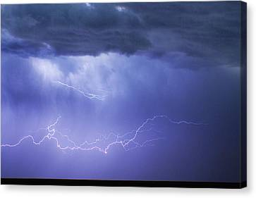 The Lightning Man Canvas Print - Dia Country Farm Field Lightning Striking 85 by James BO  Insogna