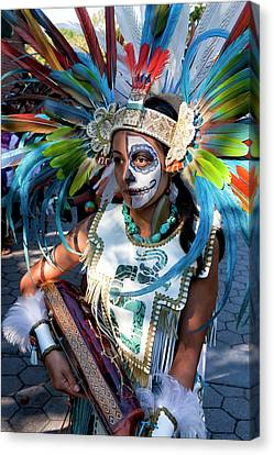Dia De Los Muertos - Day Of The Dead 10 15 11 Procession Canvas Print by Robert Ullmann