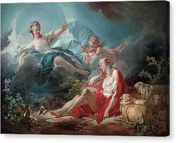 Diana And Endymion Canvas Print by Jean-Honore Fragonard