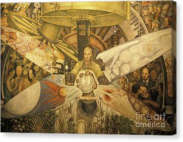 Diego Rivera Mural Mexico City Canvas Print by John  Mitchell