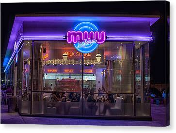 Diner Fast Food Canvas Print
