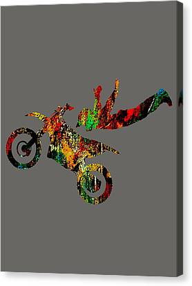 Motorcycle Canvas Print - Dirt Bike Superman Collection by Marvin Blaine
