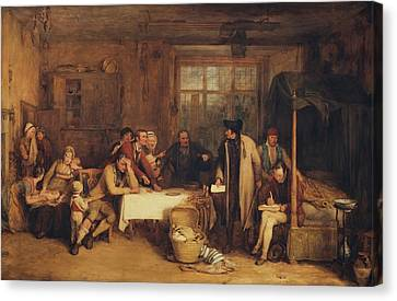 Distraining For Rent Canvas Print by Sir David Wilkie