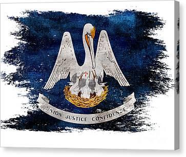 Distressed Louisiana Flag Canvas Print