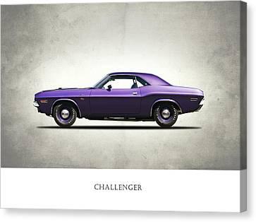 Dodge Challenger Canvas Print by Mark Rogan