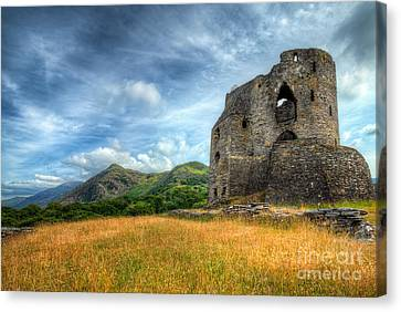 Dolbadarn Castle Canvas Print by Adrian Evans