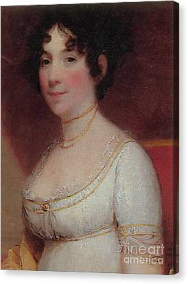 Dolley Canvas Print - Dolley Madison by Photo Researchers