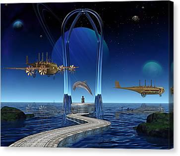 Dolphin Dreams Canvas Print by Marvin Blaine